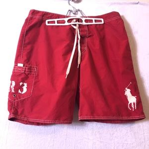 Polo Ralph Lauren red shorts/swim trunks size 34